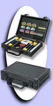 Luxus Alu Dart Case - Schwarz