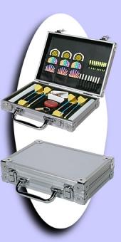 Luxus Alu Dart Case - Silber