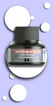 Edding BTK 25 Refill Tinte für Edding 360, abwischbar, Schwarz