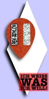 Pentathlon 2-D - Pear 100 Mikron Flights - Rot