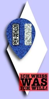 Pentathlon 2-D - Pear 100 Mikron Flights - Blau
