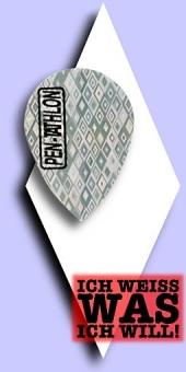Pentathlon 2-D - Pear 100 Mikron Flights - Silber