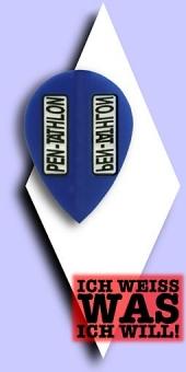 Pentathlon Poly Plain - Pear 100 Mikron Flights - Blau
