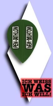 Pentathlon Poly Plain - Pear 100 Mikron Flights - Dunkelgrün