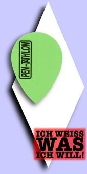 Pentathlon Poly Plain - Pear 100 Mikron Flights - Einfarbig Neongrün