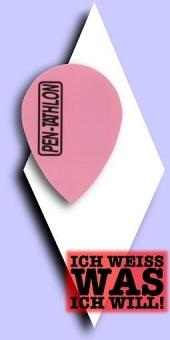Pentathlon Poly Plain - Pear 100 Mikron Flights - Einfarbig Neonpink