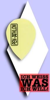 Pentathlon Poly Plain - Pear 100 Mikron Flights - Einfarbig Neongelb