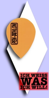 Pentathlon Poly Plain - Pear 100 Mikron Flights - Einfarbig Neonorange