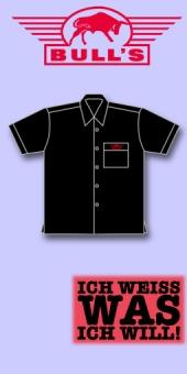 Bull's Dart Shirt - einfarbig Schwarz