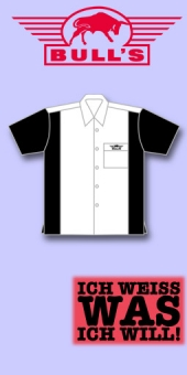 Bull's Dart Shirt - Weiss/Schwarz