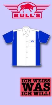 Bull's Dart Shirt - Weiss/Blau