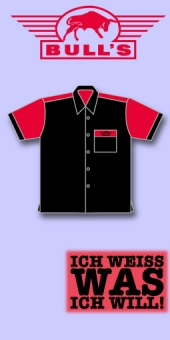 Bull's Dart Shirt - Schwarz/Rot