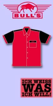 Bull's Dart Shirt - Rot/Schwarz