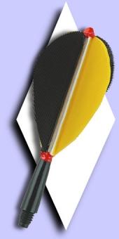 Standard Feder Flights Black-Yellow