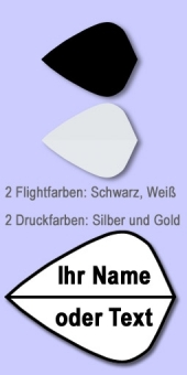 Darter's Best bestes Angebot - 10 Sätze Namensflights Form Kite 100 Mikron