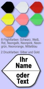 Darter's Best bestes Angebot - 10 Sätze Namensflights Form Standard 100 Mikron