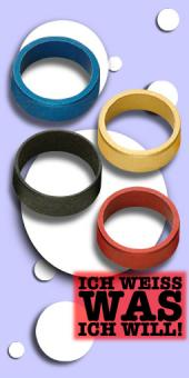 Slot Lock Anodised Aluminium Rings