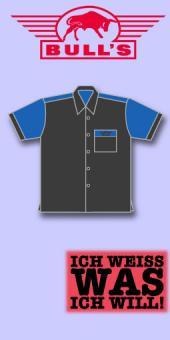 Bull's Dart Shirt Classic - Grau/Mittelblau