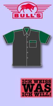 Bull's Dart Shirt Classic - Grau/Tannengrün