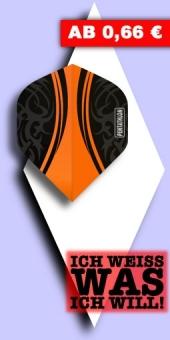 Neu im Juli - Pentathlon Vis - 100 Mikron Standard Flights - Orange