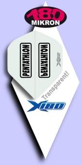 NEU im Juli - Pentathlon - X180 Standard Flights 180 Mikron - Transparent