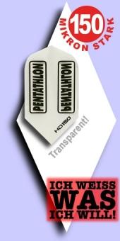 Neu im Juli - Pentathlon HD 150 Mikron Slim Flights - Transparent