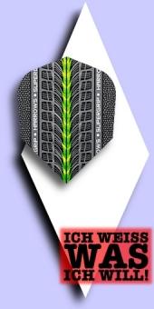Neu im Juli - Harrows Supergrip - 100 Mikron Standard Flights - Grün