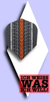 Neu im Juli - Harrows Supergrip - 100 Mikron Standard Flights - Orange