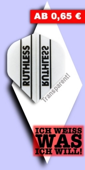 Neu im August - Ruthless - 100 Mikron Standard Flights - Transparent