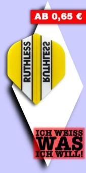 Neu im August - Ruthless - 100 Mikron Standard Flights - Gelb