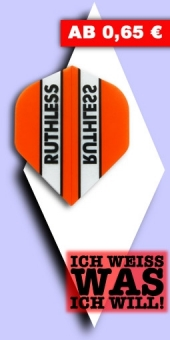 Neu im August - Ruthless - 100 Mikron Standard Flights - Orange