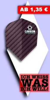 Neu im August - Harrows - Carbon 100 Mikron Standard Flights - Rot