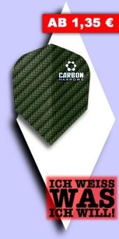 Neu im August - Harrows - Carbon 100 Mikron Standard Flights - Grün