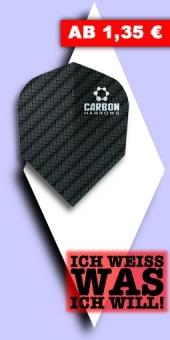 Neu im August - Harrows - Carbon 100 Mikron Standard Flights - Schwarz