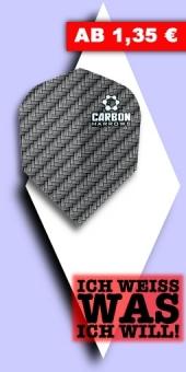 Neu im August - Harrows - Carbon 100 Mikron Standard Flights - Grau