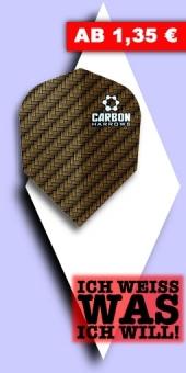 Neu im August - Harrows - Carbon 100 Mikron Standard Flights - Braun