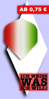 Neu im September - Vignette - 100 Mikron Standard Flights - Rot/Grün