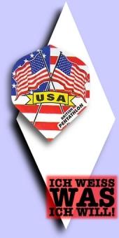 Neu im September - Pentathlon Flags (Fahnen) - 100 Mikron Standard Flights - USA