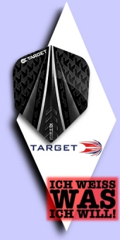 Neu im September - Target Vision Ultra - 100 Mikron Standard Flights No.6 - Schwarz