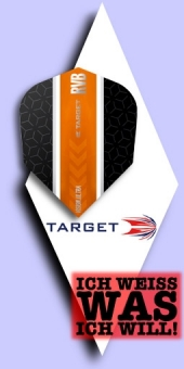 Target - Raymond van Barneveld - 100 Mikron Standard Flights No.6 Black-Orange Stripe