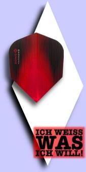 Neu im Oktober - Harrows Sonic - 100 Mikron Standard Flights No.6 - Metallic Schwarz/Rot