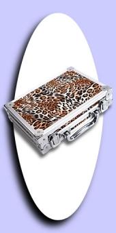 Neu im Oktober - Luxus Alu Dart Case - Leopard