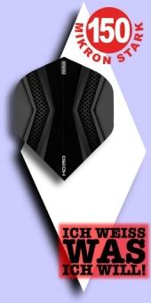 Neu im Mai - Pentathlon HD 150 Mikron Standard Flights - 2-farbig - Schwarz/Grau