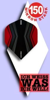 Neu im Mai - Pentathlon HD 150 Mikron Standard Flights - 2-farbig - Schwarz/Rot