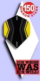 Neu im Mai - Pentathlon HD 150 Mikron Standard Flights - 2-farbig - Schwarz/Gelb