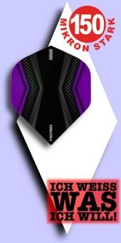 Neu im Mai - Pentathlon HD 150 Mikron Standard Flights - 2-farbig - Schwarz/Violett