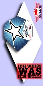 Neu im August - Bull's - Max Hopp - 100 Mikron Standard Powerflite No.2 - Blue Star