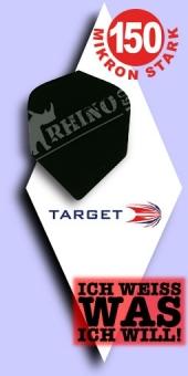Neu im August - Target Rhino - 150 Mikron Standard Flights - Schwarz