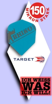 Neu im August - Target Rhino - 150 Mikron Standard Flights - Blau