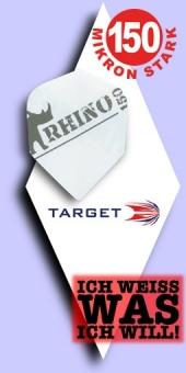 Neu im August - Target Rhino - 150 Mikron Standard Flights - Weiß